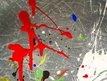 Smudges van de verf Kleurenchaos Gemengde verschillende kleuren expressionism stock afbeeldingen