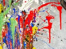 Smudges van de verf Kleurenchaos Gemengde verschillende kleuren expressionism stock afbeelding