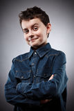 Smug kid Royalty Free Stock Images