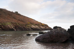 Smuggler's Cove. Near Dale, South Wales Stock Images