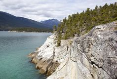Alaska`s Smuggler`s Cove. The Smuggler`s Cove scenic view outside Skagway town Alaska Royalty Free Stock Photography