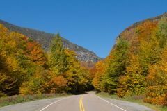 Smuggler's Notch Vermont. Foliage in Stowe, Vermont this Fall Royalty Free Stock Image