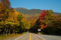 Smuggler's Notch Vermont. Foliage in Stowe, Vermont this Fall Royalty Free Stock Photography