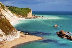 Smugglers Bay, Dorset. Coastline, sea Stock Photo