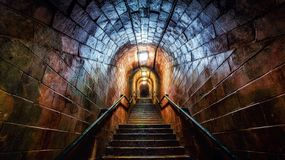 Smugglers Tunnel, Shaldon, Teignmouth, Devon, England Royalty Free Stock Photo