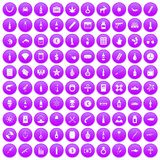 100 smuggling goods icons set purple. 100 smuggling goods icons set in purple circle isolated vector illustration Stock Photo