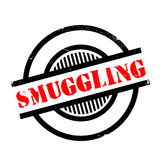 Smuggling rubber stamp Royalty Free Stock Photos