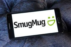 SmugMug company logo. Logo of SmugMug company on samsung mobile. SmugMug is a paid image sharing, image hosting service, and online video platform on which users stock images