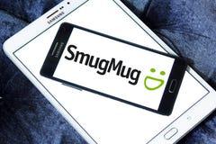 SmugMug company logo. Logo of SmugMug company on samsung mobile. SmugMug is a paid image sharing, image hosting service, and online video platform on which users royalty free stock photography