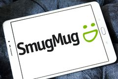SmugMug company logo. Logo of SmugMug company on samsung tablet. SmugMug is a paid image sharing, image hosting service, and online video platform on which users royalty free stock photos