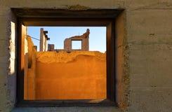 Smula byggnadsfönster arkivfoton
