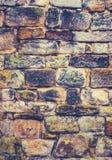 Smula den gamla stenväggen royaltyfri foto