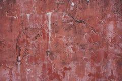 Smula forntida urblekt röd målad textur för bakgrund för stuckaturmurbrukvägg abstrakt horisontal royaltyfri foto