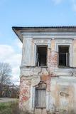 Smula tegelstenhuset royaltyfria foton