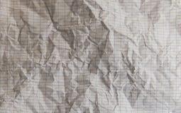 Smulad pappers- textur med rektanglar Arkivbilder