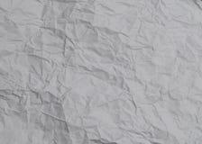 Smulad vit textur för printingpapper Arkivfoton