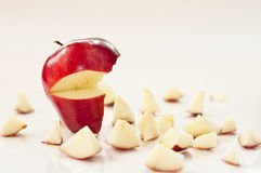 smulat äpple royaltyfri bild