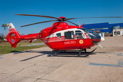 SMURD直升机 库存图片