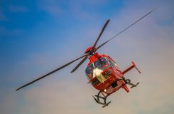 SMURD helicopter,Romani air ambulance royalty free stock images