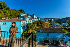 Smurf村庄- Juzcar -安达卢西亚,西班牙 图库摄影