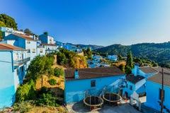 Smurf村庄- Juzcar -安达卢西亚,西班牙 免版税库存图片