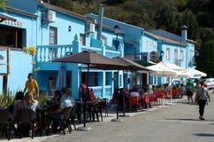Smurf镇, Juzcar在朗达,西班牙 免版税库存照片