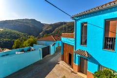 Smurf-Dorf - Juzcar - Andalusien, Spanien stockfotografie