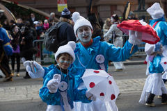 Smurf-Pantomimenspieler lizenzfreie stockfotografie