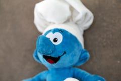Smurf toy Stock Photos