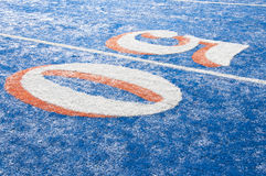 Smurf Turf. Blue smurf turf at Boise State Royalty Free Stock Photo