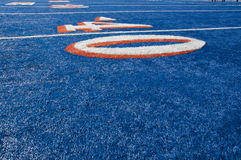 Smurf Turf. Blue smurf turf at Boise State Stock Photos