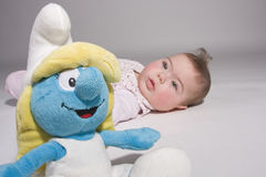 Smurfin and a baby Stock Image