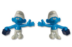 Smurfs乐趣玩具矮人 免版税库存照片