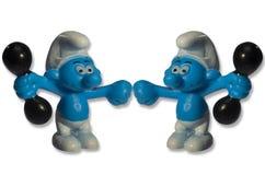 Smurfs ställa i skuggan den roliga leksaken Royaltyfria Foton