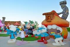 Smurfs villag in Cinema city - Jerusalem Israel Stock Images