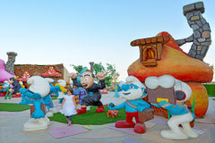 Smurfs villag w Kinowym mieście - Jerozolimski Izrael Obrazy Stock