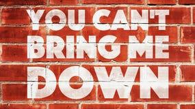 Smussate mi portate giù su un muro di mattoni Immagini Stock Libere da Diritti