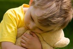 smutna chłopca zdjęcie royalty free