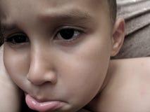 smutna chłopca Fotografia Royalty Free
