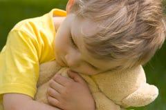 smutna chłopca Obraz Royalty Free