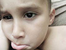 smutna chłopca Obrazy Royalty Free