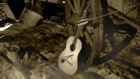 Smutna gitara narzeka ilustracji