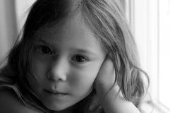 Smutna mała dziewczynka Obraz Stock