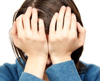 smutna kobieta Obrazy Stock