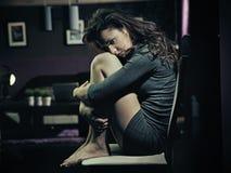 smutna kobieta Obrazy Royalty Free