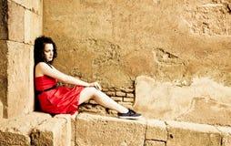 smutna kobieta Fotografia Royalty Free