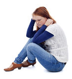 Smutna młoda dziewczyna Fotografia Royalty Free