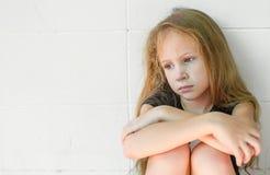 Smutna mała dziewczynka Fotografia Stock