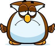 Smutna Mała sowa ilustracja wektor