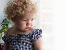 Smutna mała dziewczynka Zdjęcia Royalty Free